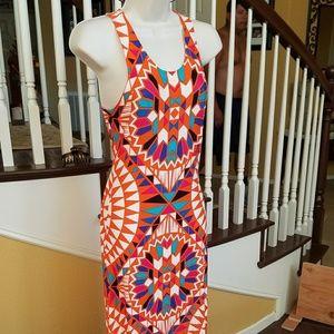 NWOT Venus form fitting tight maxi dress sz Med