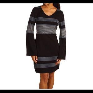 PrAna Bell Sleeve Striped Sweater Dress