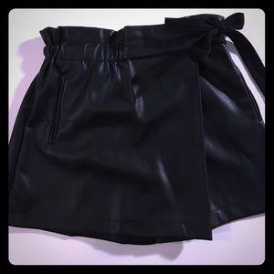 Zara faux leather high waisted skort