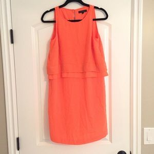 BANANA REPUBLIC Layered Orange Dress