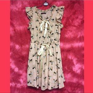 Dresses & Skirts - Soft Pink Ribbon Polka Dot Deer Dress