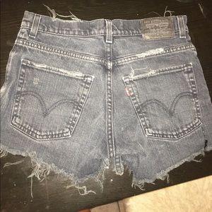 Black Vintage Levi High Waisted Shorts