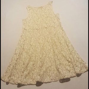 Free People - White & Cream All Lace Skater Dress