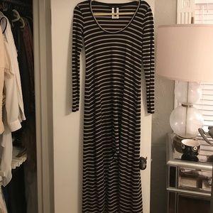 BCBG Striped knit Maxi dress