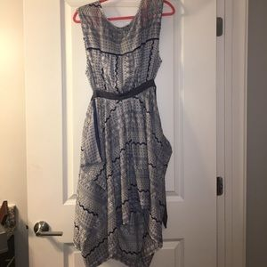 Free People Embroidered Open Back Dress