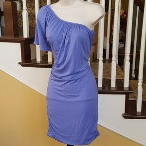 NWOT Tee Shop one floey sleeve purple dress sz Sm