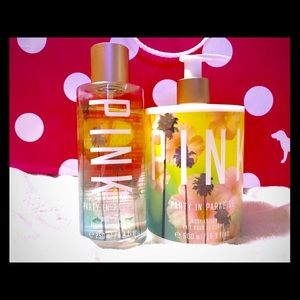 Pink-Party in Paradise body spray&lotion-PLZ READ