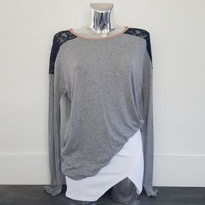 Grey Blue Laced Nordstrom Long Sleeve