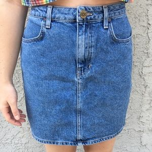 BDG High Rise Denim Skirt