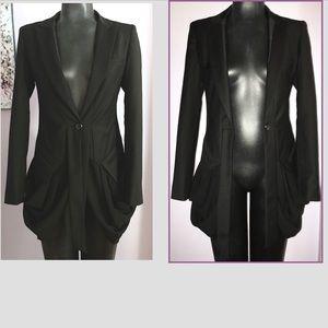 KAYLEE TANKUS Draped Tuxedo Jacket Sz S