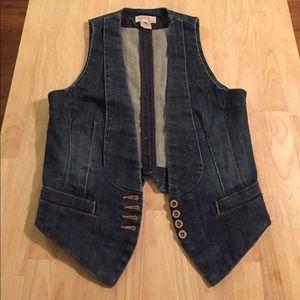 Denim French Connection tuxedo vest.