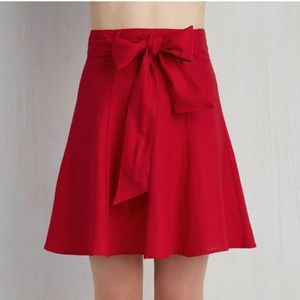 Red Skirt with Bow Detail!