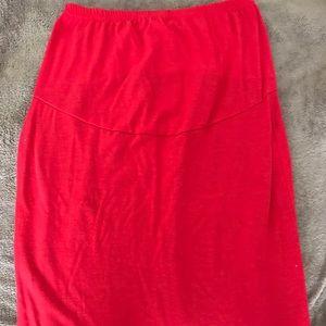 Maternity cotton pencil skirt