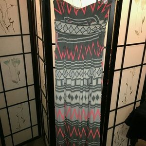 Printed Tube Maxi dress