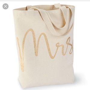 Brand new Mudpie MRS. Tote bag Bride honeymoon