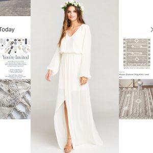 Show Me Your MuMu Long Sleeve Maxi Dress