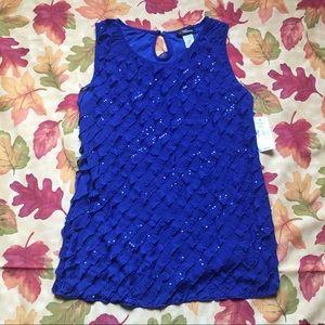 Blue Shimmer Top