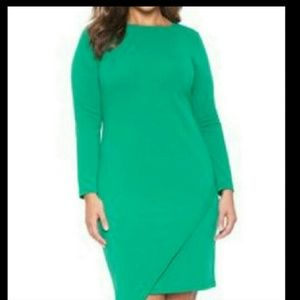 Green eloquii dress size 18 bodycon