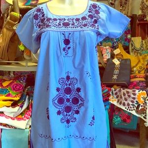 New Mexican Traditional Embroidered Mini Dress