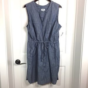 NWT Old Navy chambray striped shirtdress XXL
