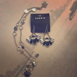 Torrid set of earrings and necklace