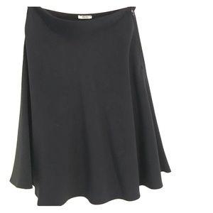 Miu Miu black A-line skirt