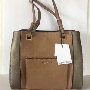 Calvin Klein Saffiano leather shopper tote bag