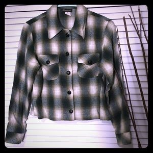 VINTAGE Cropped Flannel