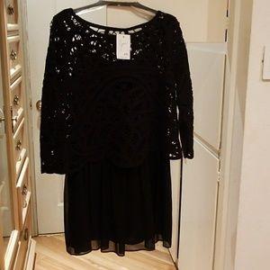 JOIE BLACK COCKTAIL DRESS SIZE S