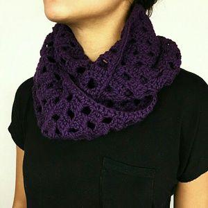Handmade Purple Infinity Scarf