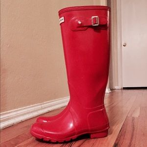 Red Hunter Rain Boots size 9