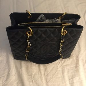 Authentic Chanel GST with gold hardware