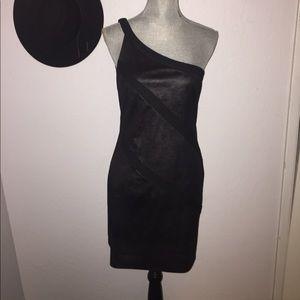 Jay Godfrey Iridescent Black & Gray Dress Size 4