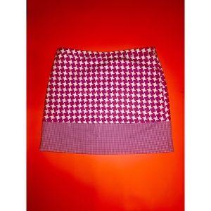 Michael Kors Pink + White Color Block Skirt