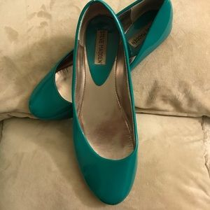 Patent Teal Steve Madden Flats Size 9