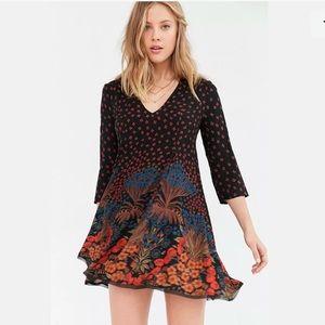 *NWT* Ecoté Black Floral Dress 3/4 Sleeve Medium