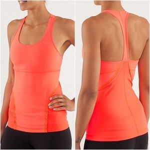 Lululemon Power Up Tank in Bright Coral