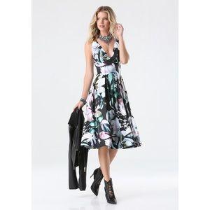 Bebe floral print midi gown