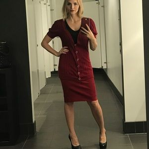 DVF burgundy skirt