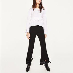 Zara White ruffle top