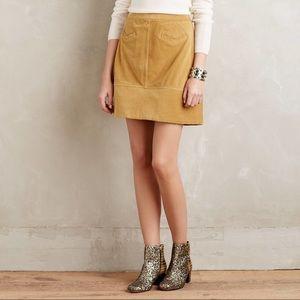 Maeve mustard corduroy skirt