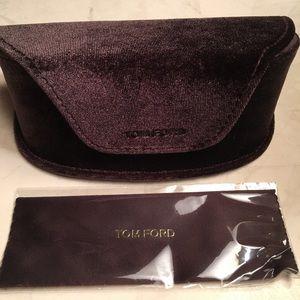 Brand New Tom Ford Oversized Velour Sunglass Case