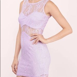 Tobi Lace Lavender Dress with Cut Outs