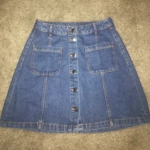 High Waisted Jean Mini Skirt