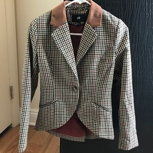 H&M blazer with suede details