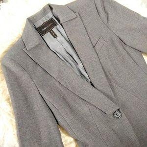 NWOT BCBGMAXAZRIA grey lined longsleeve blazer