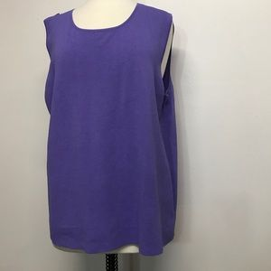 Cable & Gauge Woman Sleeveless Lavender Top