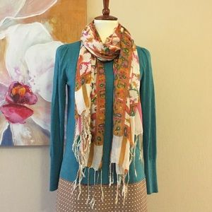Multi-Colored Paisley Scarf
