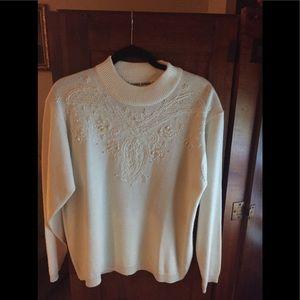 Alfred Dunner Embellished Sweater