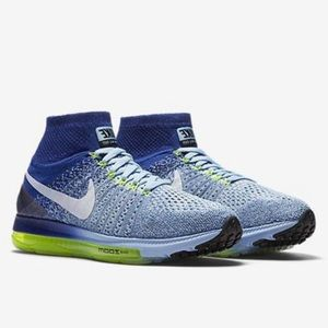 🍎New🍎 NIKE blue Zoom All Out Flyknit ~ various
